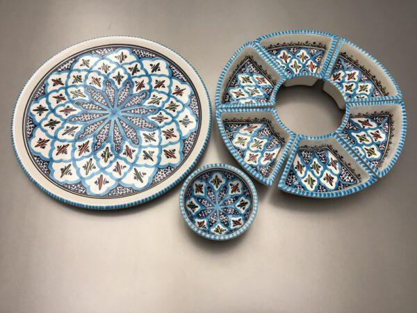 Turquoise Blue Fine Tapasschaal