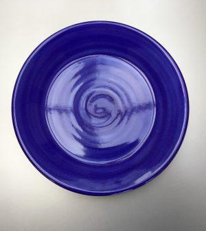 Uni bord donkerblauw 20 cm