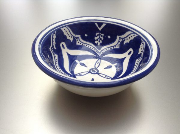 Blue Fond Saladier 15 cm