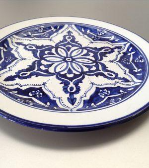 Blue Fond bord 35 cm