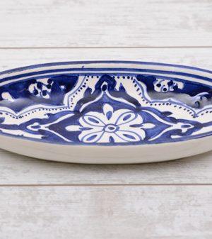 blue fond ovale schaal 20 cm
