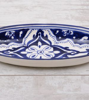 Blue Fond ovale schaal 30 cm