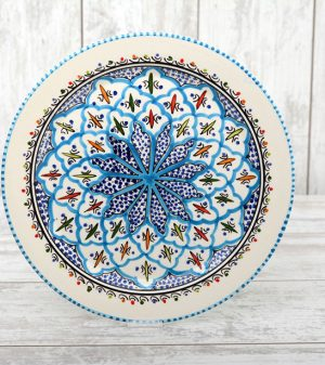 Turquoise Blue Fine bord 35 cm