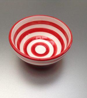 Bretons schaaltje rood 6 cm