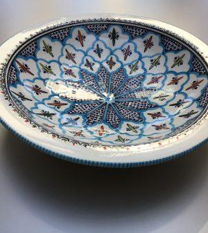 Turquoise Blue Fine Saladeschaal 30 cm
