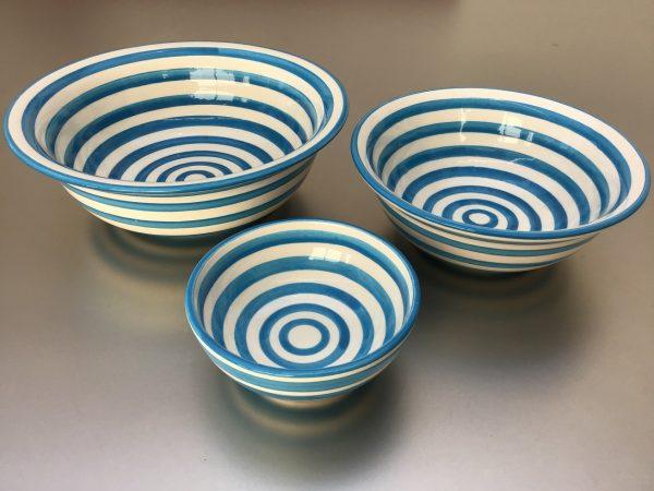 Bretons Blue Fine Schalen set 10 - 20 cm