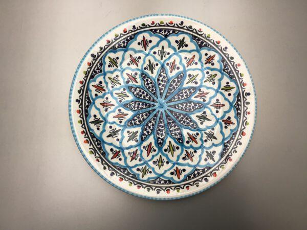 Turquoise Blue Fine bord 24 cm