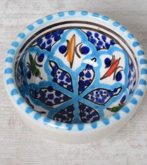 Turquoise Blue Fine schaaltje 6 cm