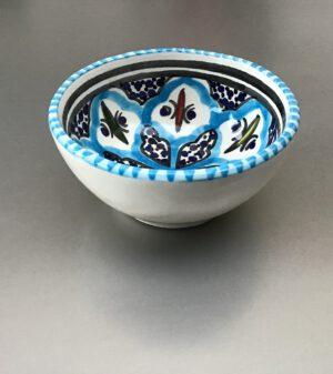 Turquoise Blue Fine schaal 6 cm
