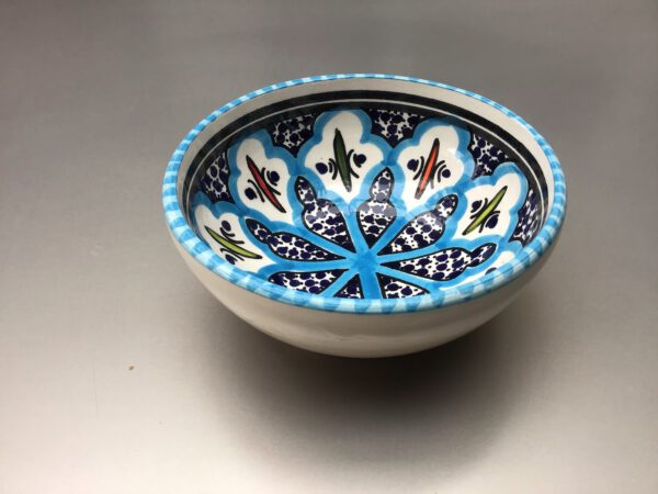Turquoise Blue Fine schaal 10 cm