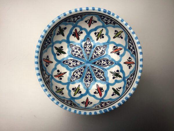 Turquoise Blue Fine schaal 12 cm