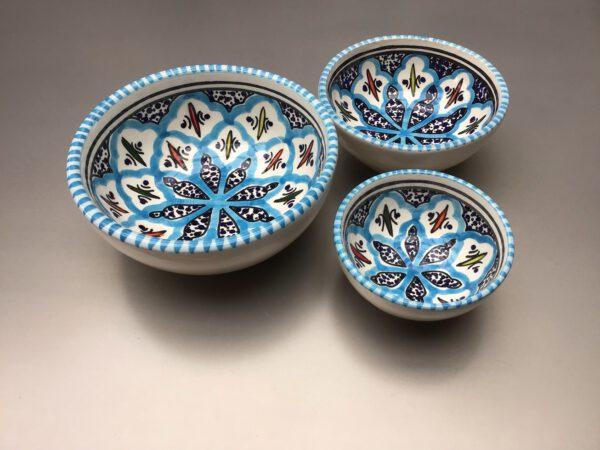 Turquoise Blue Fine schalenset 6 - 10 -12 cm